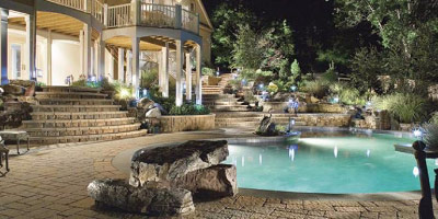 outdoor landscape lighting design and construction maryland