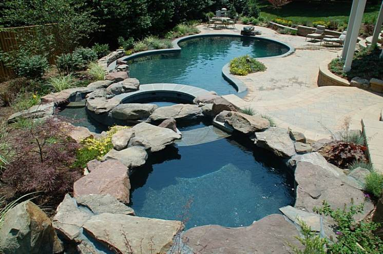 Luxury swimming pools br design build landscape design for Pool design maryland