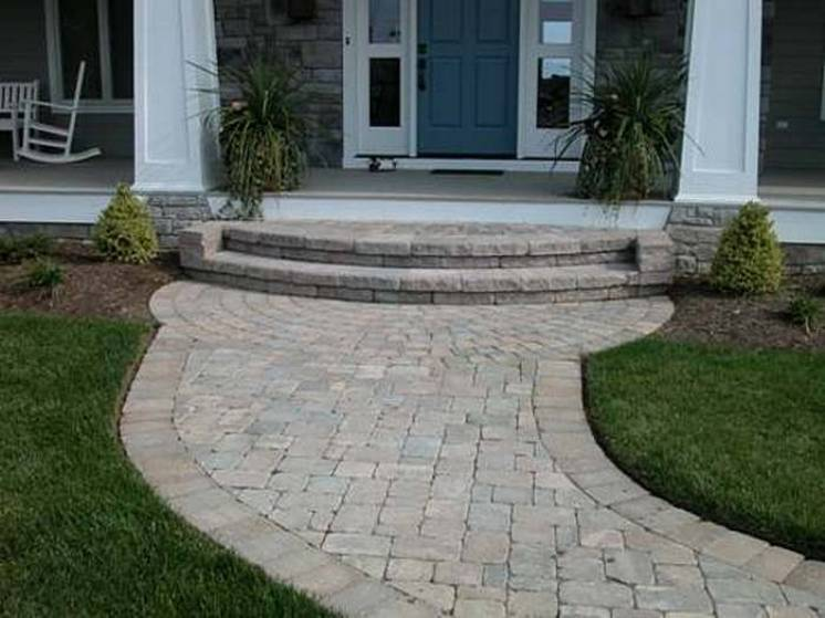 Enchanting Small Garden Landscape Ideas With Stepping Walk: Stone Steps Walkways Garden Stone Paths