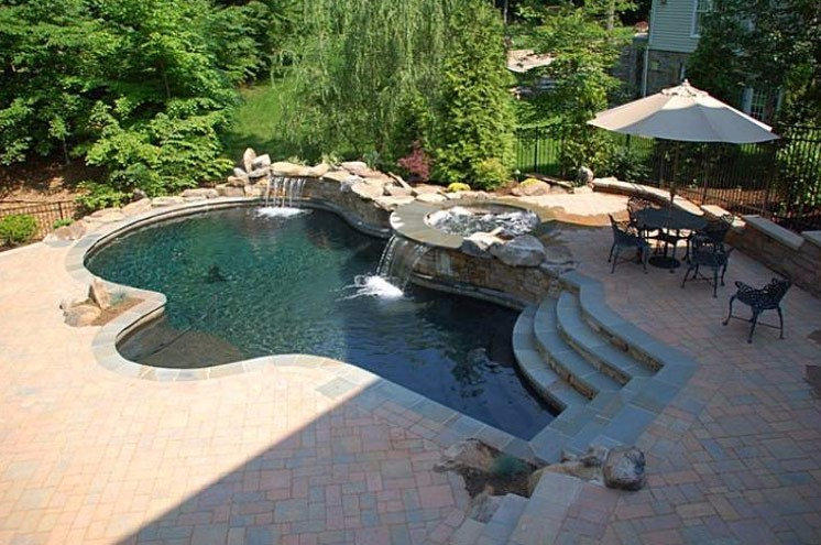 Custom swimming pools annapolis md br design build for Pool design maryland