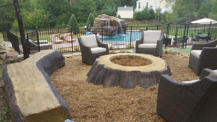 seating at outdoor fire pit