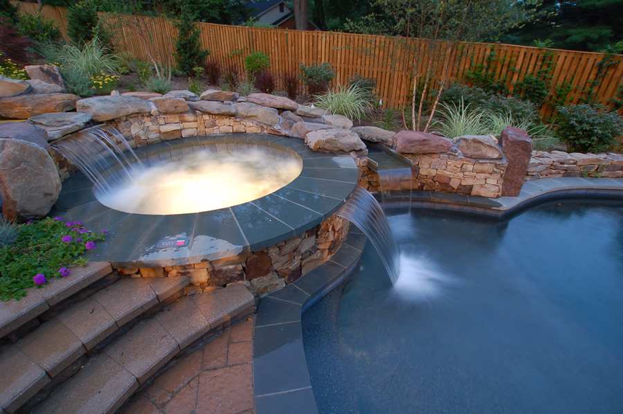 custom swimming pool and sauna