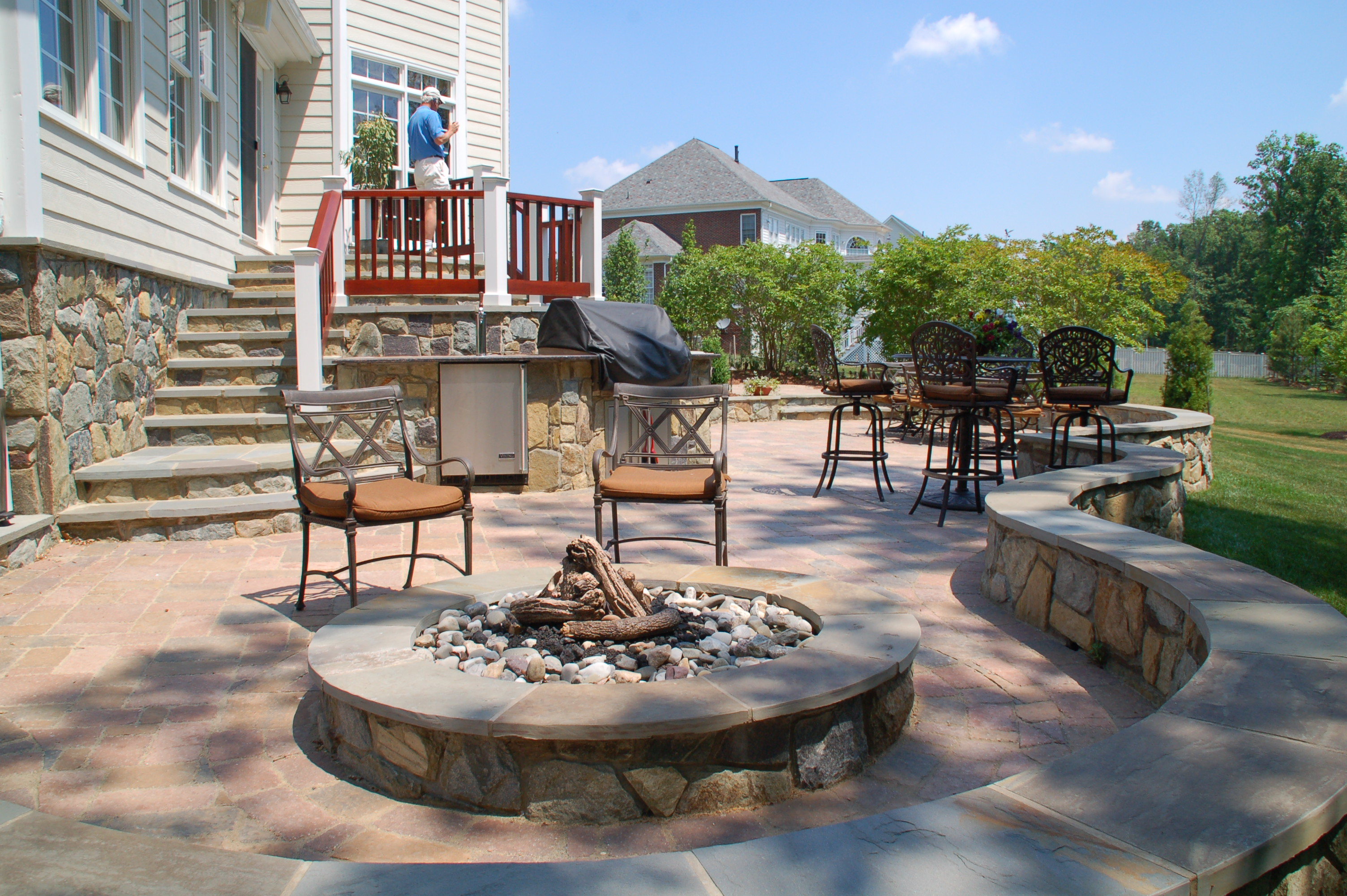 seating at fire pit